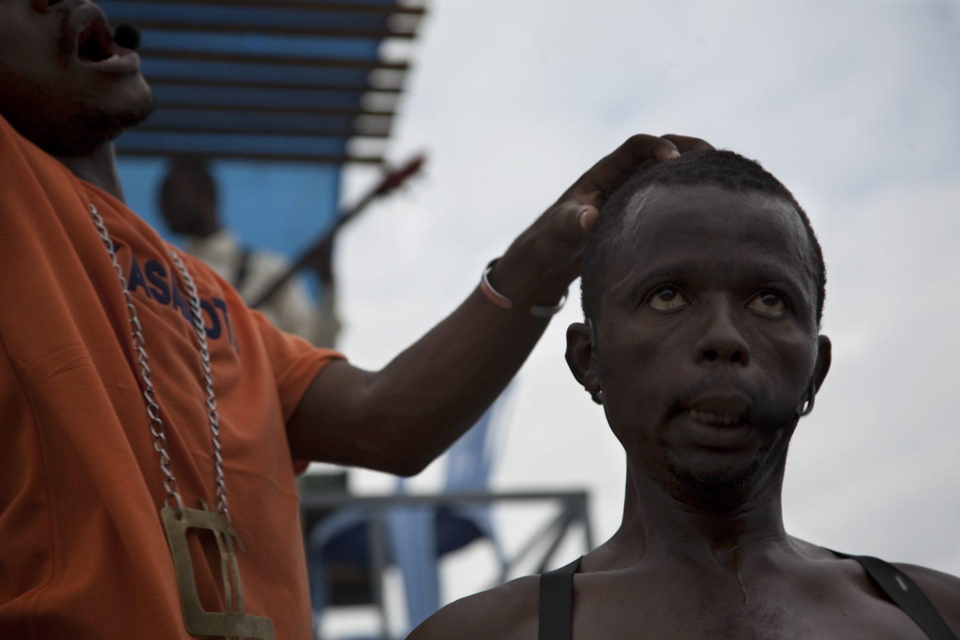 Kinshasa, Congo DRC december 2009toneelstuk